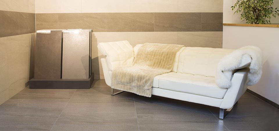 Grossformatige Bodenplatten für den Innenbereich | © H+M Wohnkeramik